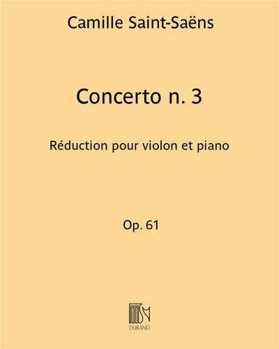 Concerto n. 3 Op. 61 - Réduction pour violon et piano