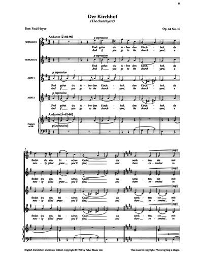 Der Kirchhof (Op.44 No.10)
