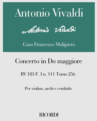 Concerto in Do maggiore RV 183 F. I n. 111 Tomo 256