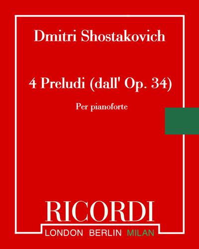 4 Preludi (dall' Op. 34)