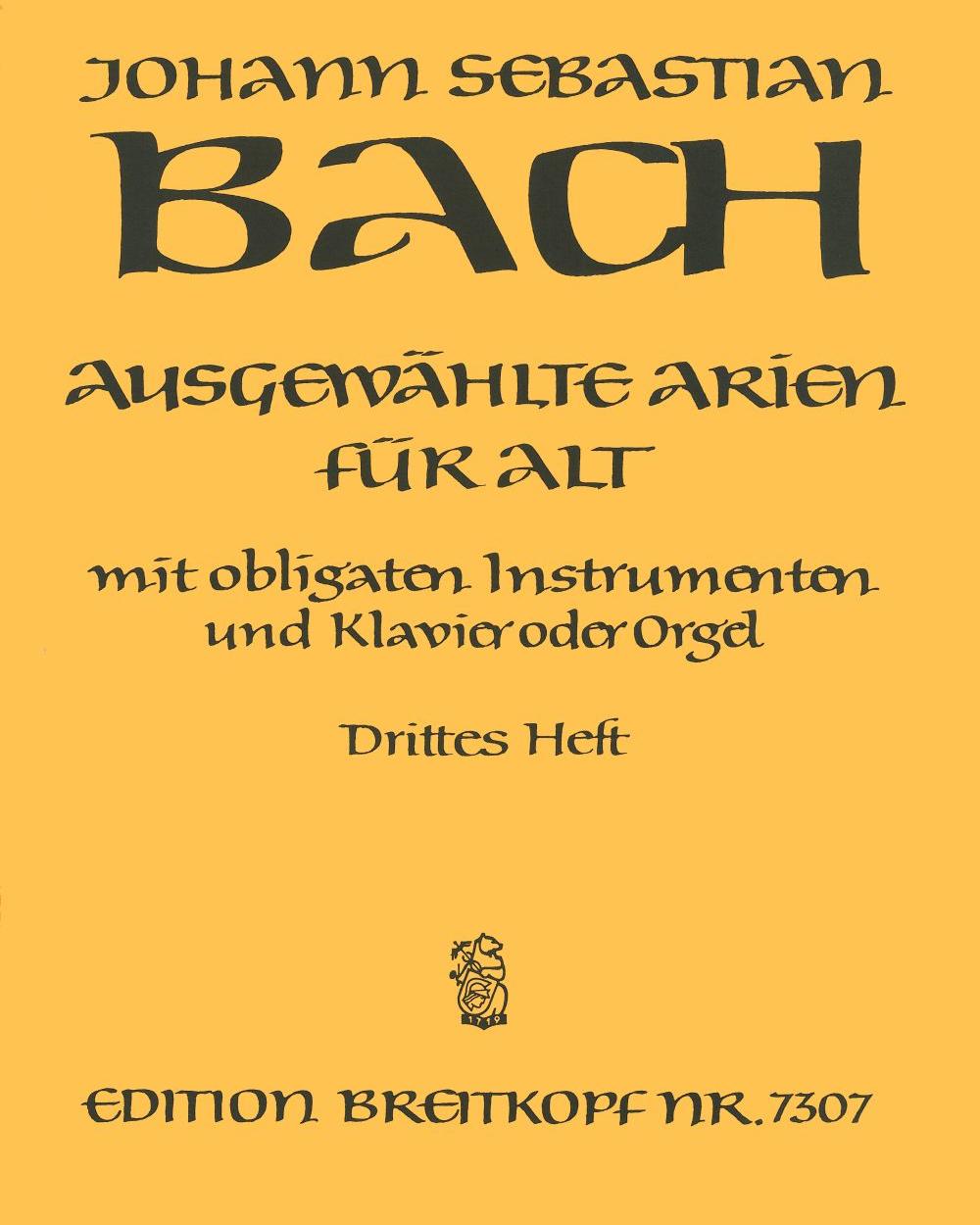 Ausgewählte Arien für Alt - Heft 3