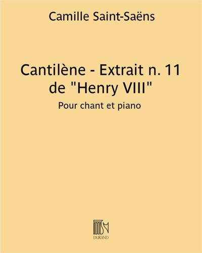 """Cantilène - Extrait n.11 de """"Henry VIII"""""""