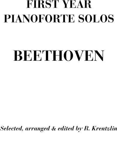 First Year Pianoforte Solos
