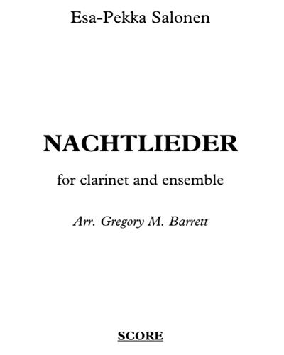 Nachtlieder (for Clarinet and Ensemble)