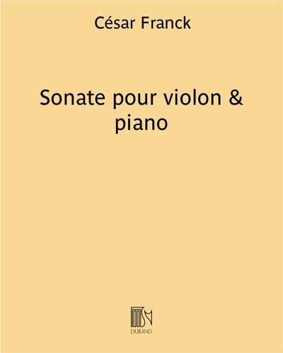 Sonate pour violon & piano