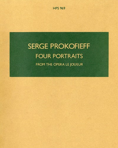 """Four Portraits, op. 49 (from """"The Gambler"""")"""