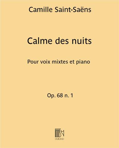 Calme des nuits Op. 68 n. 1