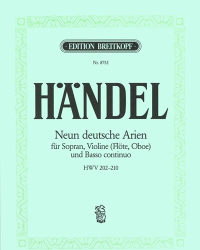 9 Deutsche Arien HWV 202-210