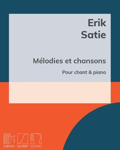 Mélodies et chansons pour chant & piano