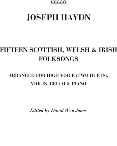 Fifteen Scottish, Welsh and Irish folksongs