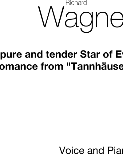 O Pure and Tender Star of Eve, WWV 70