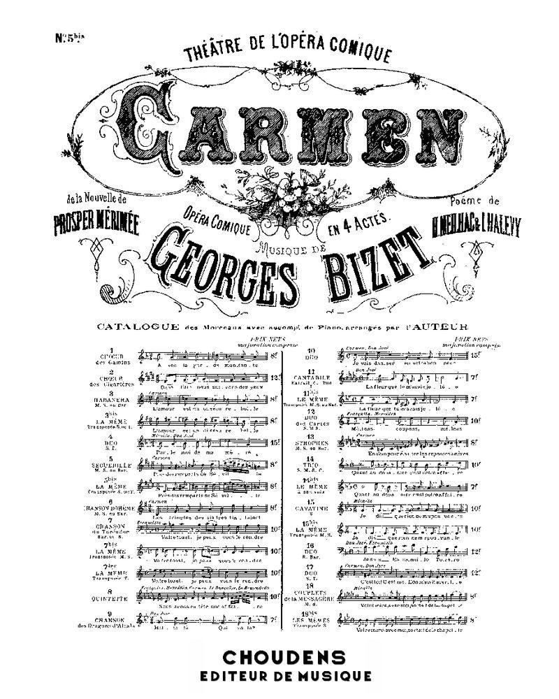 Carmen No. 5 bis Séguédille
