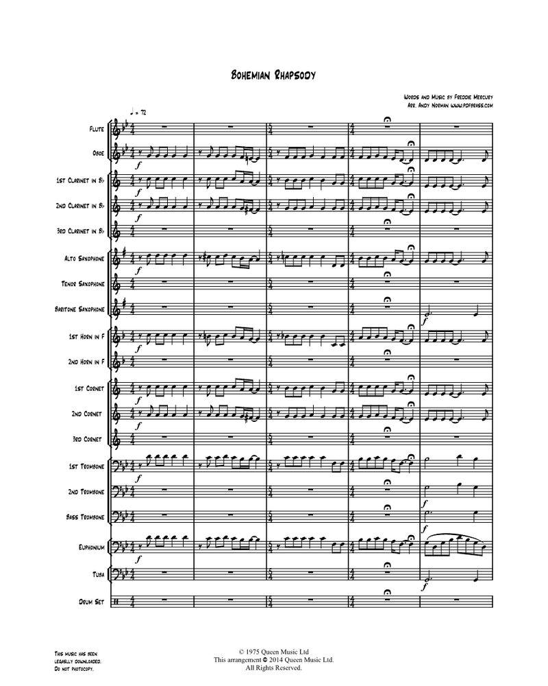 Bohemian Rhapsody - for Wind Band