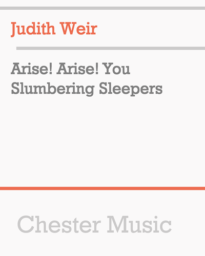 Arise! Arise! You Slumbering Sleepers