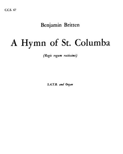 A Hymn to St. Columba