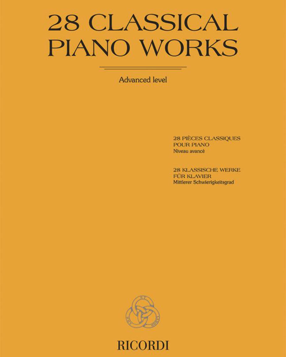28 Classical piano works - Advanced level
