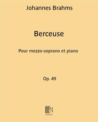 Berceuse (Wiegenlied) Op. 49 n. 4