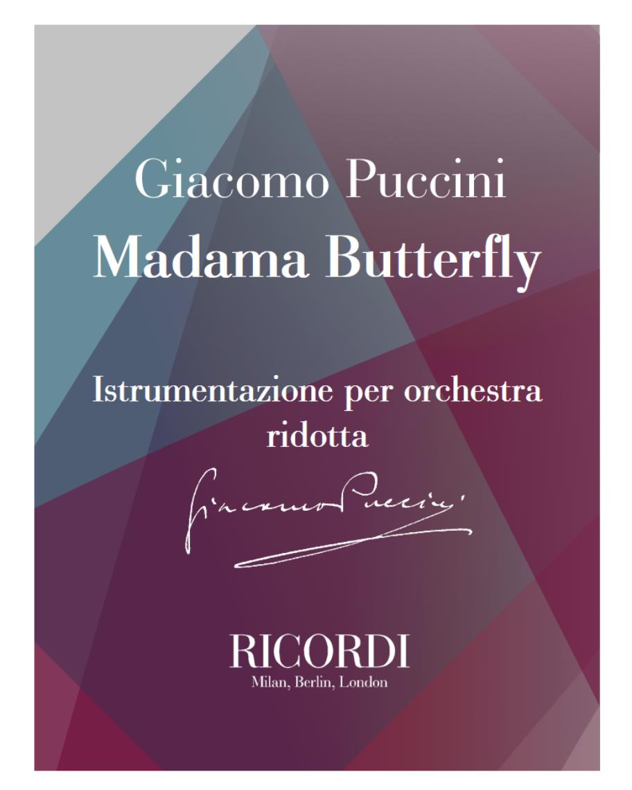 Madama Butterfly - Istrumentazione per orchestra ridotta