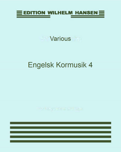 Engelsk Kormusik 4 (English Choral Music 4)