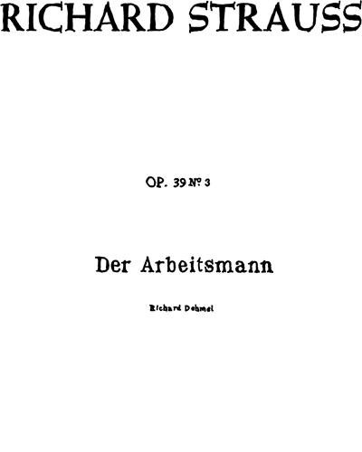 Der Arbeitsmann Op. 39 n. 3