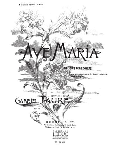Ave Maria Op. 93 Duo pour Deux Soprani