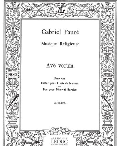 Ave Verum Op. 65, No. 1