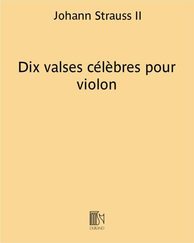 Dix valses célèbres pour violon