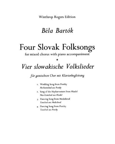 Four Slovak Folk Songs