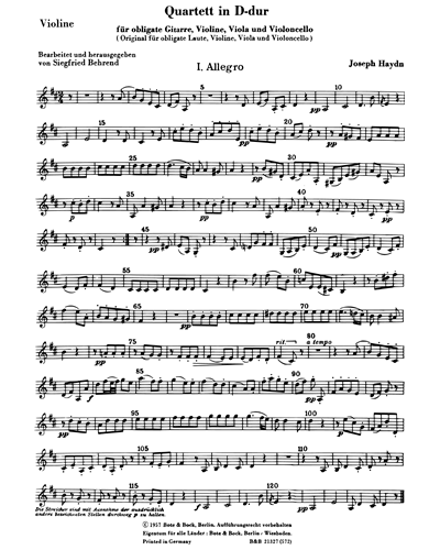 Quartet in D Major