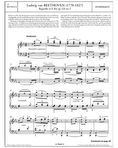 Bagatelle in E Flat Op,.126, No.3