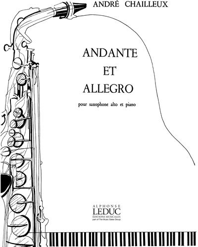 Alto Saxophone André Chailleux: Andante Et Allegro Alto Saxophone//Piano Piano