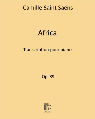 Africa Op. 89 - Transcription pour piano
