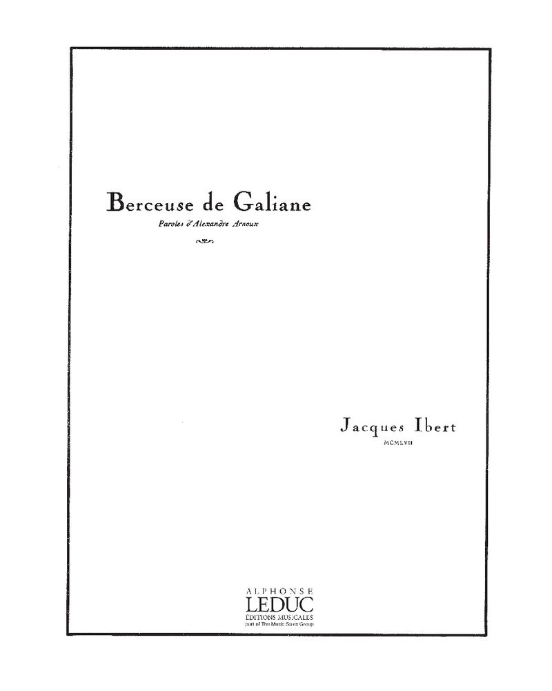 Berceuse de Galiane