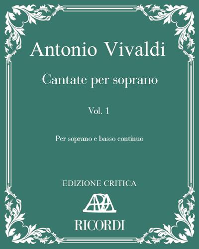 Cantate per soprano Vol. 1