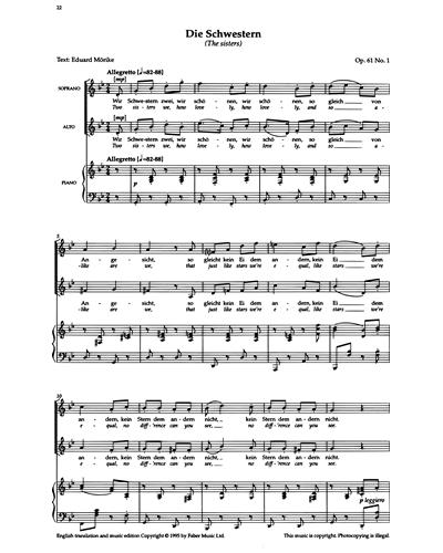 Die Schwestern (Op.61 No.1)