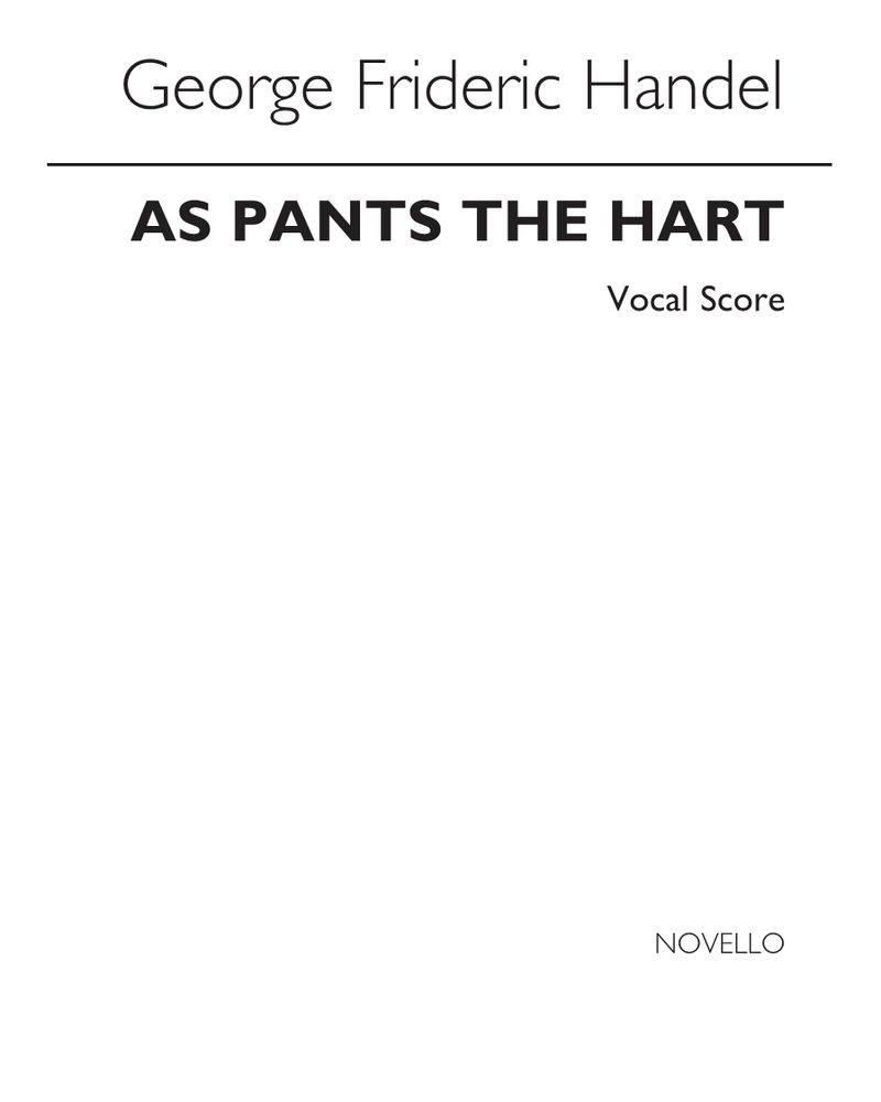 As pants the Hart