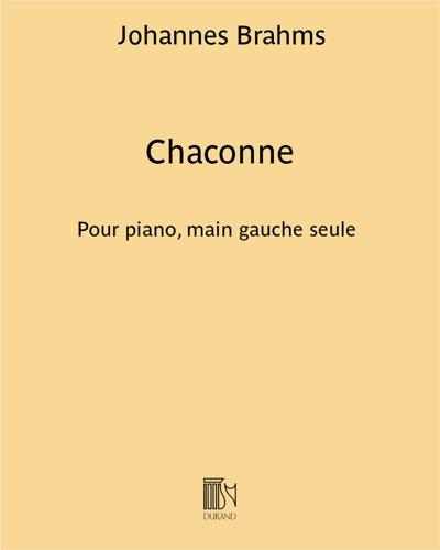 """Chaconne (d'après la """"Partita BWV 1004"""" de Johann Sebastian Bach)"""
