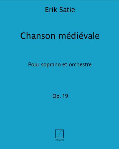 """Chanson médiévale (extrait de """"5 mélodies"""" Op. 19)"""