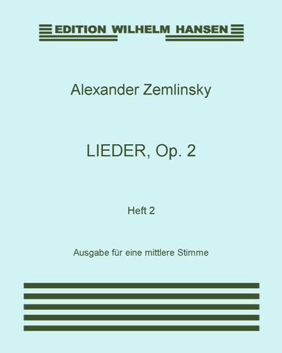 Lieder, Op. 2: Heft 2