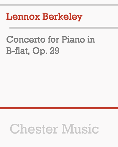 Concerto for Piano in B-flat, Op. 29