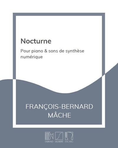Nocturne - Pour piano & sons de synthèse numérique