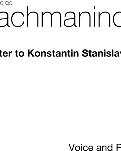 Letter to Konstantin Stanislavsky