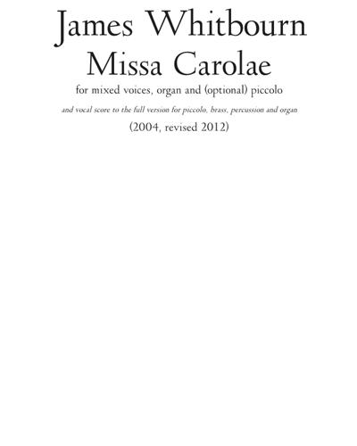 Missa Carolae [2012 Revision]