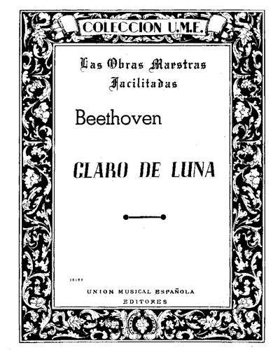 """Adagio (de la Sonata """"Claro de Luna"""") Op. 27 No. 2"""
