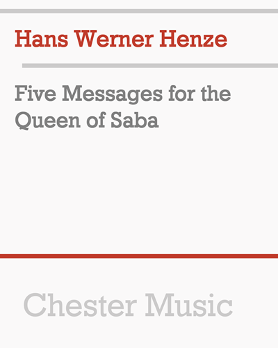 Five Messages for the Queen of Saba
