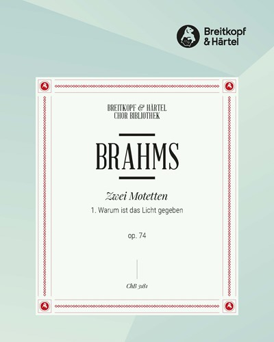 2 Motetten op. 74 - Nr. 1
