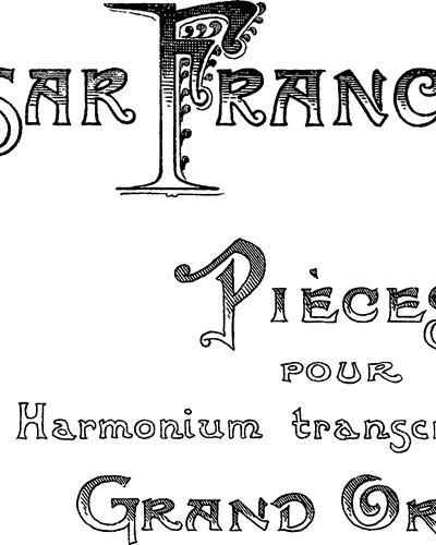 5 Pièces pour Harmonium