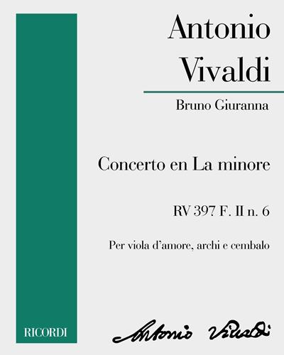 Concerto en La minore RV 397 F. II n. 6
