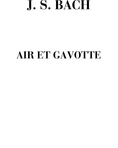 Air de Gavotte