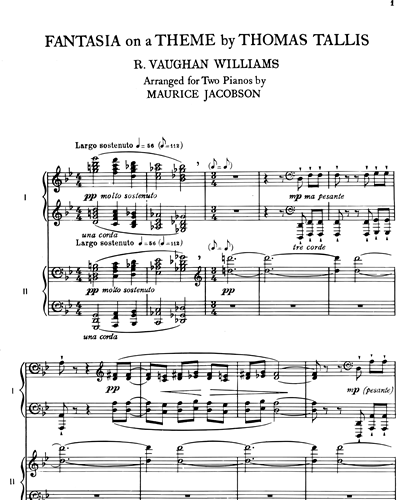 Ralph Vaughan Williams Fantasia On A Theme By Thomas Tallis Sheet Music Nkoda